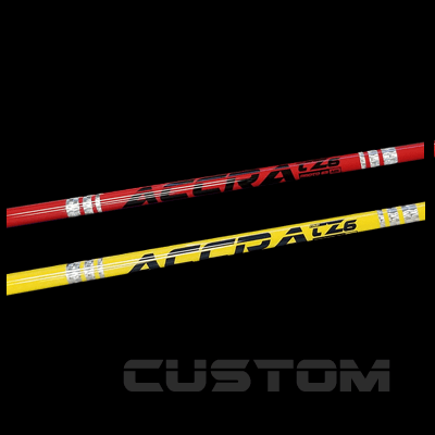 """<h3>Custom Shafts</h3> Looking for a truly unique custom fitted shaft..? Once fitted, certain models you can really make it special by requesting a custom color option!  <br><br> <a href=""""#"""" class=""""myButton"""">more..</a>"""
